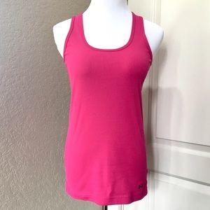 Under Armour Pink Fitted Tank Size L